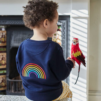 'Dreamer' Rainbow Embroidered Children's Sweatshirt