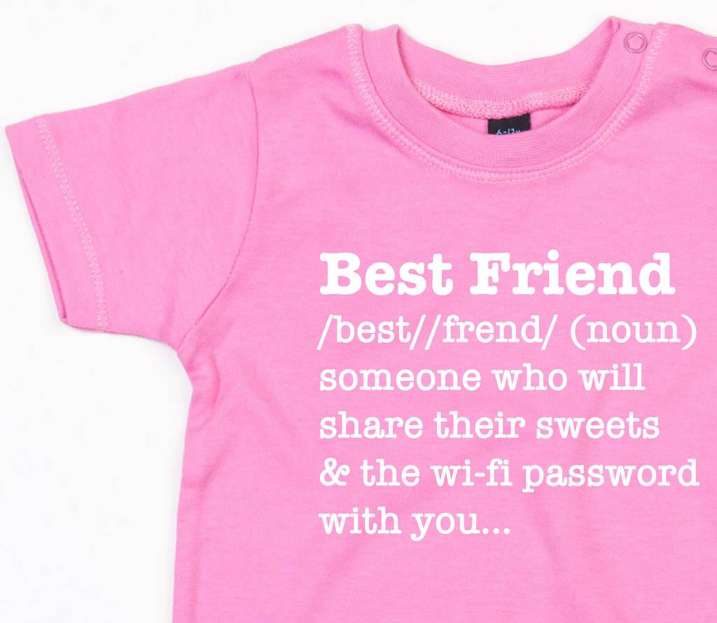 best friend definition t shirt by dadsandkids | notonthehighstreet