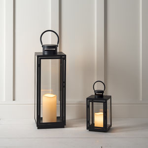 Malvern Outdoor Battery Candle Lantern Set - candles & home fragrance