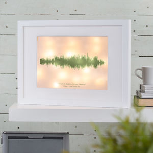 Personalised Sound Wave Light Box
