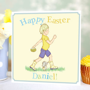 Boy's Personalised Easter Card - cards & wrap