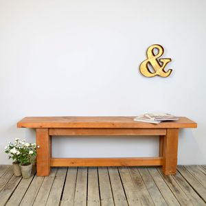 Chunky Solid Wood Bench