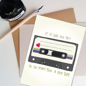 90's Mix Tape Card - valentine's cards