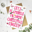 Funny Flamingo Christmas Card