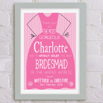 Personalised Wedding Thank You Print