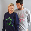 Neon Lights Unisex Christmas Jumper Sweatshirt