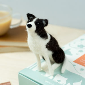 Border Collie Needle Felting Craft Kit - knitting kits