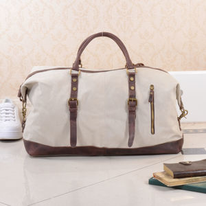 Canvas Classic Travel Holdall Bag - clothing & accessories