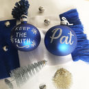 Leicester City Personalised Bauble