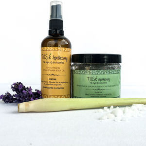 Body Scrub And Body Oil Set - skin care
