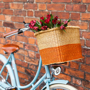 Colourful Handcrafted Bike Baskets
