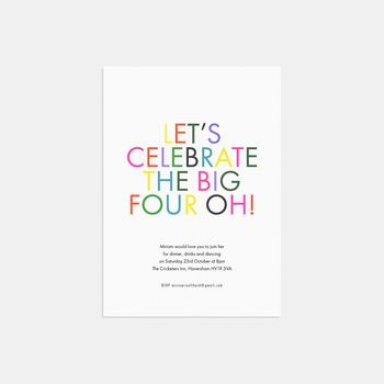 Let's Celebrate Birthday Party Invitations