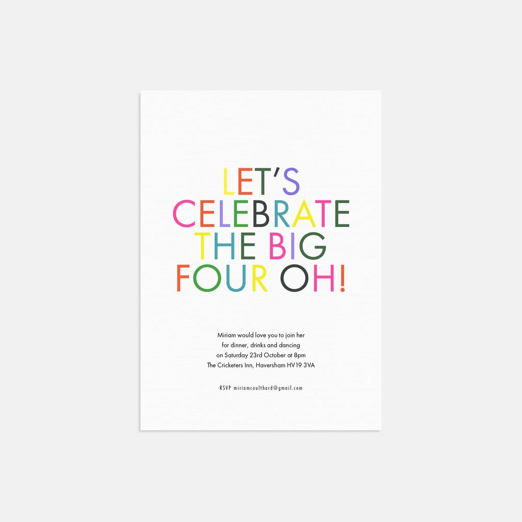 let\'s celebrate birthday party invitations by lola\'s paperie ...