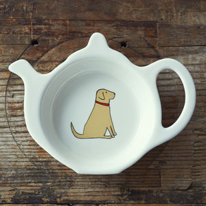 Yellow Labrador Tea Bag Holder - crockery & chinaware