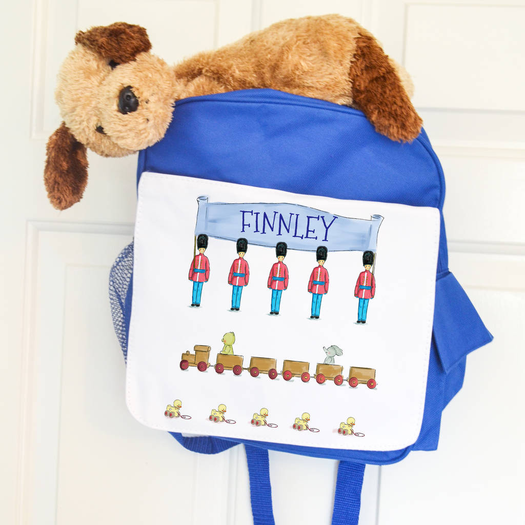 Personalised School Bag 'Toy Solider'