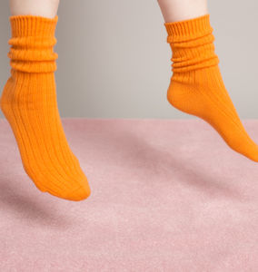 Chunky Cashmere Ankle Socks