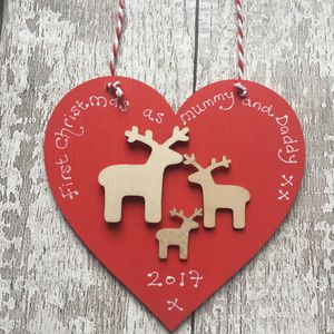 Personalised 1st Christmas As A Family Decoration - christmas home accessories