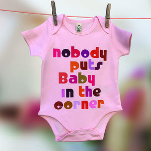 New Baby Film Quote Babygrow Range For Film Fans - under £25
