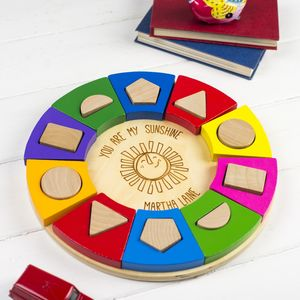 Personalised Shape Sorting Puzzle Toy - personalised gifts