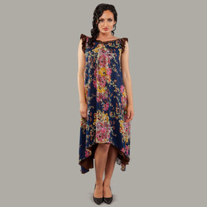 Flower Viscose Feather Light Maxi Dress Jessica - women's fashion