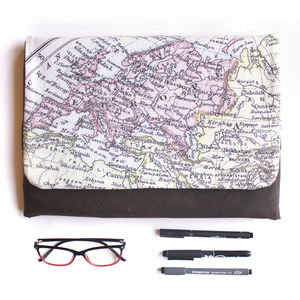 Personalised Map Print Laptop Case - bags & purses