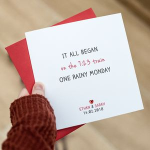 'It All Began' Valentine's Card