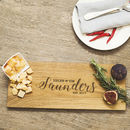 Cheese Lovers Personalised Oak Cheese Serving Board