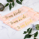 Hen Party Team Bride Sash