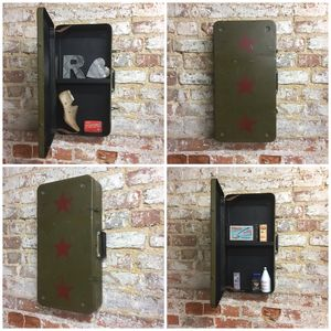 Upcycled Vintage Suitcase Bathroom Cabinet - furniture