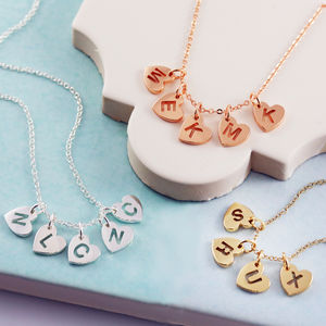 Personalised Mini Pierced Heart Necklace - wedding jewellery
