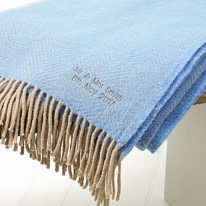 Personalised Wool Throw - blankets & throws