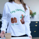 Hedgehogs Cosy Personalised Christmas Jumper