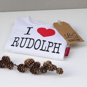 Personalised 'I Love Christmas' T Shirt - children's christmas clothing