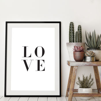 Bespoke Order Love Print A3 Exchange