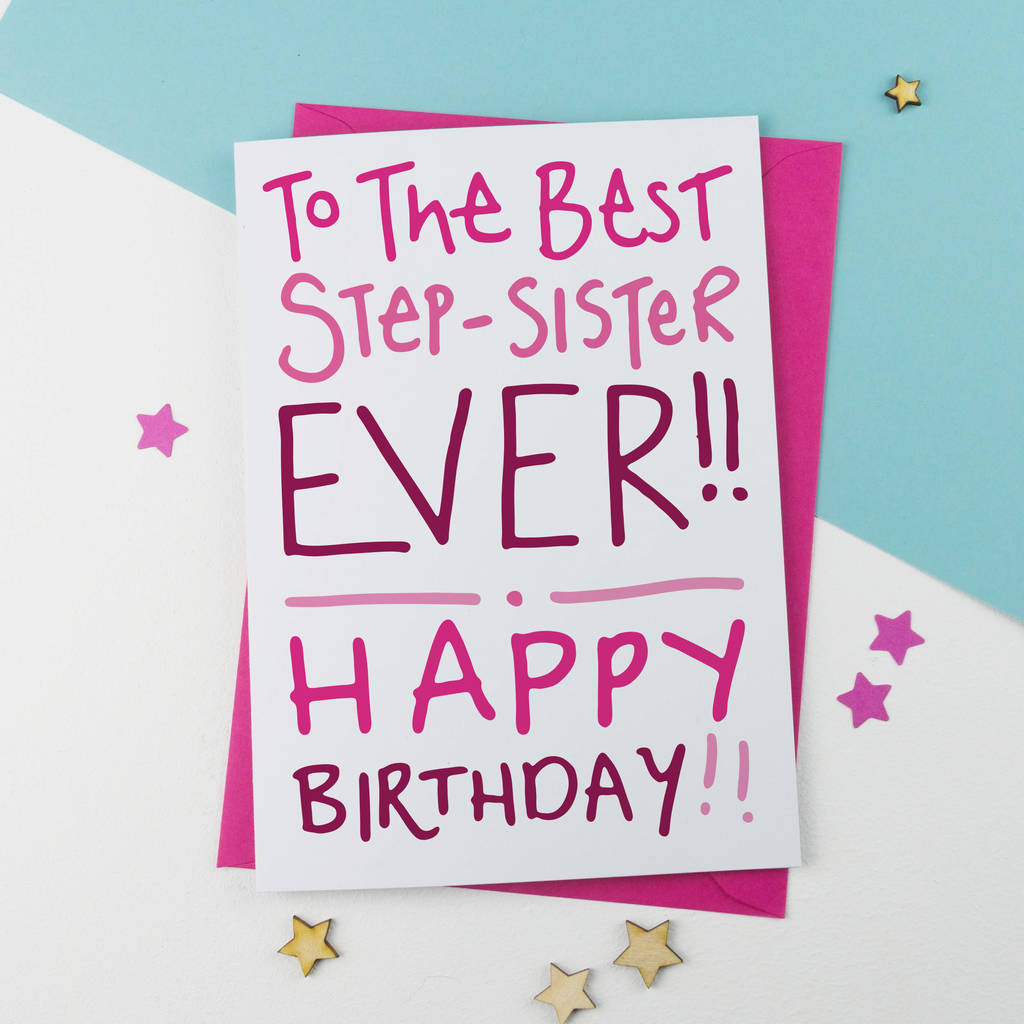 Step Sister Birthday Card