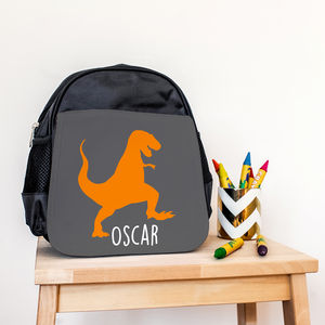 Children's Personalised Dinosaur Mini Rucksack - gifts: under £25