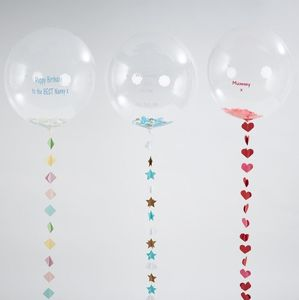 Personalised Large Bubble Balloon With Handmade Tail - children's parties