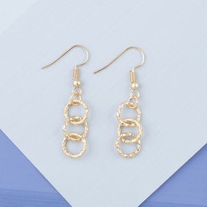 Handcrafted Gold Chainlace Ring Earrings