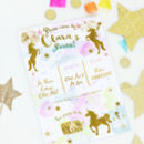 Unicorn Girl's Birthday Party Invites 'Magical'