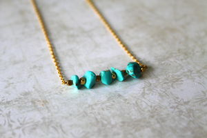 Children's Semi Precious Stone Bar Necklace - children's jewellery