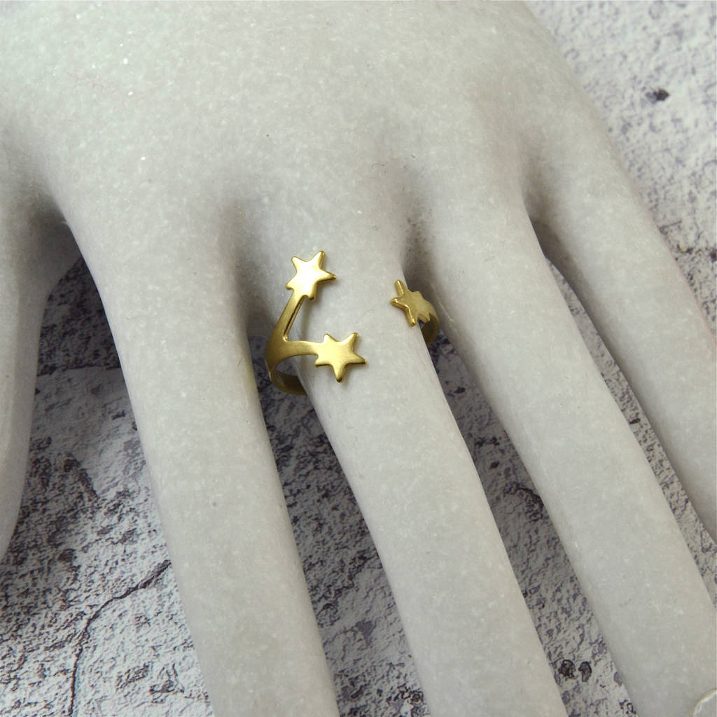 Gold Star Wrap Ring
