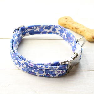Mabel Liberty Fabric Dog Collar - dog collars