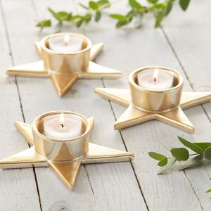 Gold Star Tea Light Holder