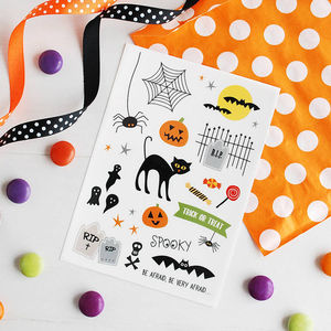 Spooky Halloween Temporary Tattoos - fancy dress for babies & children