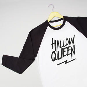 'Hallow Queen' Halloween Baseball Tee - adults