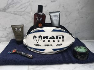 Rugby Ball Wash Bag | Real Rugby Ball Material - wash & toiletry bags