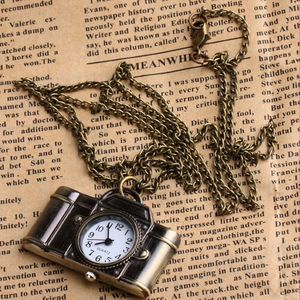 Vintage Style Camera Watch Pendant Necklace