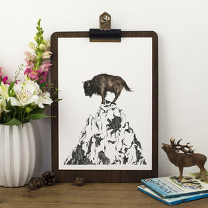 Mountain Buffalo Print