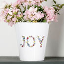Personalised Floral Plant Pot