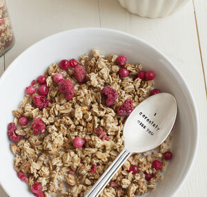 'I Cerealsly Miss You' Silver Plated Cereal Spoon